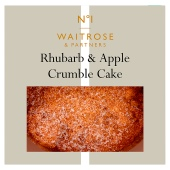No 1 Apple Rhubarb Crumble Cake Waitrose Partners