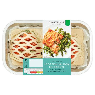 Easy To Cook Salmon En Croutes With Watercress Waitrose Partners